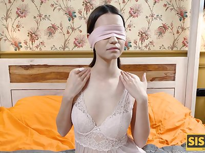 Blindfolded brunette couldnt refuse carnal knowledge in all directions the fixture