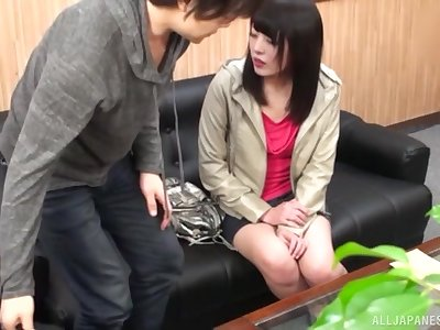 Kuroki Ikumi gets her pussy fucked and fingered in the stranger's office