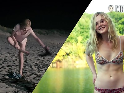 Nice footage of hot Dakota Fanning flashing their way bum in some nude scenes