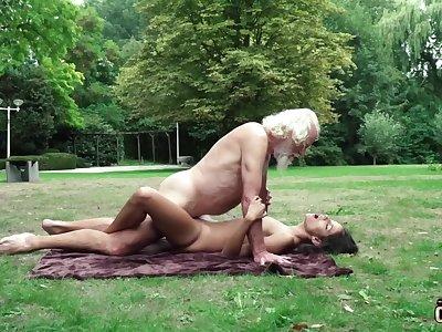 70 yr elder statesman granddad pulverizes faithful yr elder female wails and rattled